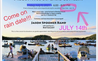 Megunticook Lake Concert Rescheduled to July 14th